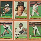 1976 Topps San Francisco Giants Team Lot 21 Gary Lavelle Mike Caldwell Gary Thomasson