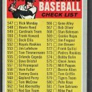 6th SERIES CHECKLIST 1970 TOPPS # 542 UNMARKED