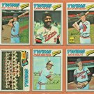 1977 Topps Minnesota Twins Partial Team Set 22 diff Butch Wynegar Larry Hisle Lyman Bostock