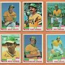 1982 1983 Topps Oakland Athletics Partial Team Set 27 diff Joe Rudi Tony Armas