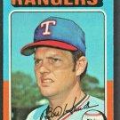 Texas Rangers Bill Hands 1975 Topps Baseball Card #412