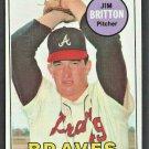Atlanta Brave Jim Britton 1969 Topps Baseball Card # 154 nr mt