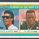 1990 Topps Box Card #H Cleveland Browns Webster Slaughter New Orleans Saints Pat Swilling