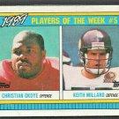 1990 Topps Box Card #E Kansas City Chiefs Christian Okoye Minnesota Vikings Keith Millard