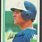 Atlanta Braves Dale Murphy 1982 Topps Baseball Card 668 nr mt