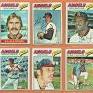 1977 Topps California Angels Team Set Lot 27 Nolan Ryan Don Baylor Joe Rudi Bobby Bonds Jerry Remy