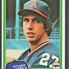 California Angels Fred Martinez 1981 Topps Baseball Card # 227 nr mt