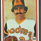 San Diego Padres Rollie Fingers 1981 Topps Baseball Card # 229 nr mt