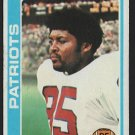 NEW ENGLAND PATRIOTS JULIUS ADAMS 1978 TOPPS # 401