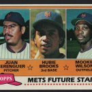 New York Mets Future Stars Mookie Wilson Hubie Brooks 1981 Topps Baseball Card # 259