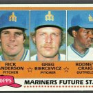 Seattle Mariners Future Stars 1981 Topps Baseball Card # 282 nr mt