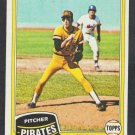 Pittsburgh Pirates Kent Tekulve 1981 Topps Baseball Card 695