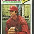 Philadelphia Phillies Steve Carlton 1977 Topps Baseball Card #110 ex mt