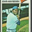 Kansas City Royals John Mayberry 1977 Topps Baseball Card #244