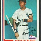 New York Yankees Willie Randolph 1982 Topps Baseball card # 569 nr mt