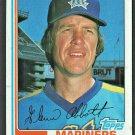 Seattle Mariners Glenn Abbott 1982 Topps Baseball card # 571 nr mt