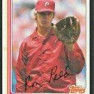 Philadelphia Phillies Ron Reed 1982 Topps Baseball card # 581 nr mt