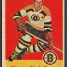 Boston Bruins Fleming Mackell 1957 Topps Hockey Card #16