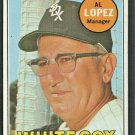 CHICAGO WHITE SOX AL LOPEZ 1969 TOPPS # 527