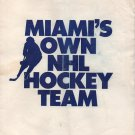 1991 Miami NHL Hockey Ticket Application Brochure Florida Panthers