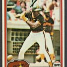 San Diego Padres Dave Winfield 1981 Topps Baseball Card #370 nr mt