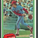 Philadelphia Phillies Ron Reed 1981 Topps Baseball Card #376 nr mt
