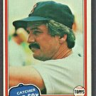Boston Red Sox Dave Rader 1981 Topps Baseball Card #378 ex/em