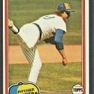 Milwaukee Brewers Larry Sorensen 1981 Topps Baseball Card #379 ex mt