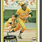 Pittsburgh Pirates Willie Stargell 1981 Topps Baseball Card #380 nr mt