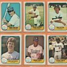 1981 Fleer Los Angeles Dodgers Team Set Lot 20 Don Sutton Steve Garvey Rick Sutcliffe