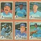 1983 Fleer Kansas City Royals Team Set Lot 19 Hal McRae Larry Gura Willie Aikins Dan Quisenberry