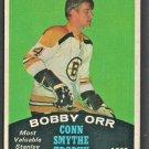 BOSTON BRUINS BOBBY ORR CONN SMYTHE TROPHY 1970 OPC # 252 O PEE CHEE