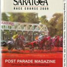 Saratoga Race Course 2009 Alabama Stakes Post Position Program w/ Monmouth Park