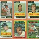 1974 1975 Topps New York Yankees Team Set Lot 11 Lou Piniella Rick Dempsey Dick Tidrow Fred Stanley