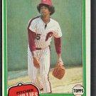 Philadelphia Phillies Nino Espinosa 1981 Topps Baseball Card # 405 nr mt
