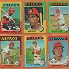 1975 Topps Houston Astros Team Set Lot 18 Cesar Cedeno Jose Cruz Doug Rader