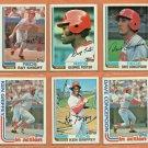 1982 1983 Topps Cincinnati Reds Team Set Lot 31 Johnny Bench Tom Seaver George Foster