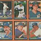 1985 1986 Donruss Detroit Tigers Team Set Lot 27 Lance Parrish Jack Morris Lou Whitaker Kirk Gibson