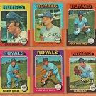1975 1976 Topps Kansas City Royals Team Set Lot 12 Freddie Patek Dennis Leonard Steve Busby