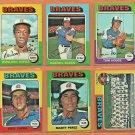 1975 Topps Atlanta Braves Team Set Lot 12 Darrell EvansTeam Card Tom House Marty Perez