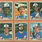 1983 Fleer Montreal Expos Team Set Lot 19 Andre Dawson Al Oliver terry Francona Tim Wallach