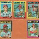 1975 Topps Chicago White Sox Team Set Lot 10 Wilbur Wood Bucky Dent Jim Kaat Terry Forster