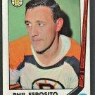 BOSTON BRUINS PHIL ESPOSITO (+ OPC STAMP) 1969 TOPPS HOCKEY CARD # 30
