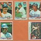 1978 1979 Los Angeles Dodgers Team Set Lot 13 Steve Garvey Ron Cey Steve Yeager Reggie Smith