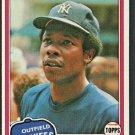 New York Yankees Bobby Brown 1981 Topps Baseball Card # 418 nr mt