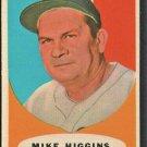 BOSTON RED SOX MIKE HIGGINS 1961 TOPPS BASEBALL CARD # 221 NR MT