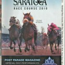 Saratoga Race Course 2010 Program w/ Monmouth Park Arlington Park