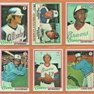 1978 Topps Atlanta Braves Team Set Lot Phil Niekro Gary Matthews Jeff Burroughs