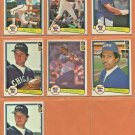1982 Donruss Chicago White Sox Team Lot 7 Harold Baines Bill Almon Mike Squires