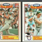 Oakland Athletics Mark McGwire 1989 1990 Topps Glossy All Star Baseball Card